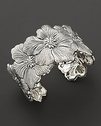 Buccellati | Metallic Blossom Cuff Bracelet with Gold Accents | Lyst
