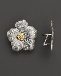 Buccellati | Metallic Blossom Medium Flower Earrings with Gold Accents | Lyst