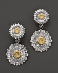 Buccellati - Metallic Daisy Pendant Earrings - Lyst