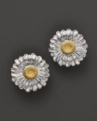 Buccellati | Metallic Daisy Small Button Earrings | Lyst