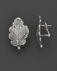 Buccellati - Metallic Oak 1 Small Leaf Earrings - Lyst