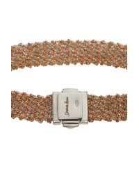 Carolina Bucci - Pink All Gold Woven Bracelet - Lyst