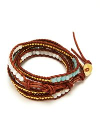 Chan Luu - Brown Five Wrap Leather Graduated Bracelet - Lyst