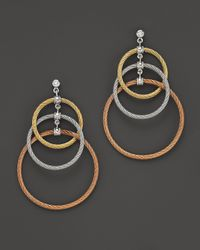 Charriol | Multicolor Classique 3 Circle Tri Color Drop Earrings | Lyst