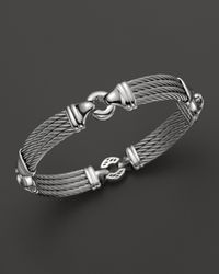 Charriol - Gray Gentlemens Collection Nautical Cable Station Bracelet for Men - Lyst