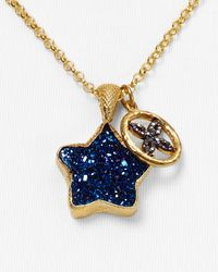 Coralia Leets - Blue Drusy Star Pendant and Daisy Charm Necklace 18 - Lyst