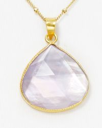 Coralia Leets - Deep Purple Mother Of Pearl Pendant Necklace 16 - Lyst