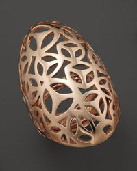 Di Modolo | Metallic Rose Plated Open Weave Full Finger Ring | Lyst