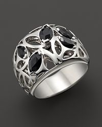 Di Modolo | Metallic Sterling Silver and Black Onyx Medallion Ring | Lyst