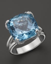 Di Modolo | Metallic Blue Topaz Diamond Oversize Stone Ring 12 Ct Tw | Lyst