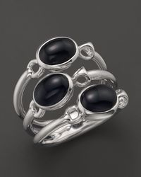 Di Modolo | Metallic Rhodium Onyx Triple Stone Small Ring | Lyst