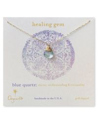 Dogeared - Metallic Healing Gem Briolette Necklace with Blue Quartz Pendant 18 - Lyst