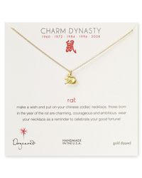 Dogeared - Metallic Year Of The Rat Dynasty Charm Necklace 18 - Lyst