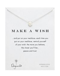 Dogeared - Metallic Sterling Silver Make A Wish Reminder Skull Necklace 18 - Lyst