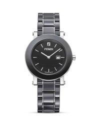 Fendi | Ceramic & Stainless Steel Bracelet Watch/Black | Lyst