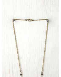 Free People - Metallic Double Layer Rosary - Lyst