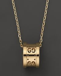 Gucci - Yellow Icon Twirl Pendant Necklace 16l - Lyst