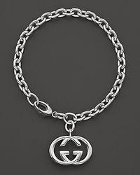 Gucci | Metallic Sterling Silver Britt Bracelet | Lyst