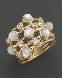 Ippolita | Metallic 18K Gold Lollipop Constellation Ring In Mother-Of-Pearl With Diamonds | Lyst