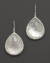 Ippolita - White Sterling Silver Wonderland Teardrop In Mother Of Pearl Earrings - Lyst