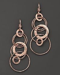 Ippolita | Black Rosé Hammered Jet Set Earrings | Lyst