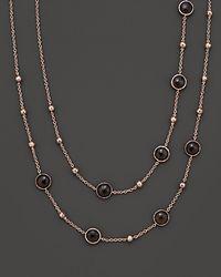 Ippolita - Metallic Rosé Mini Lollipop And Ball Necklace In Smoky Quartz - Lyst