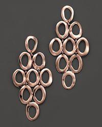 Ippolita - Pink Rosé Open Oval Cascade Earrings - Lyst