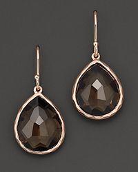 Ippolita - Metallic Rosé Rock Candy® Teardrop Earrings In Smoky Quartz - Lyst