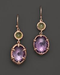 Ippolita | Purple Ippolita Rosé Sugar Kissed 2stone Drop Earrings in Orchid | Lyst