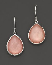 Ippolita - White Sterling Silver Mini Wonderland Teardrop Earrings In Blush - Lyst