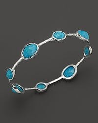 Ippolita - Metallic Sterling Silver Rock Candy 8 Stone Bangle In Turquoise - Lyst
