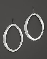 Ippolita - Metallic Sterling Silver Scultura Large Wavy Oval Earrings - Lyst