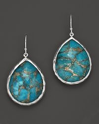 Ippolita | Metallic Sterling Silver Wonderland Large Teardrop Earrings In Bronze Turquoise | Lyst