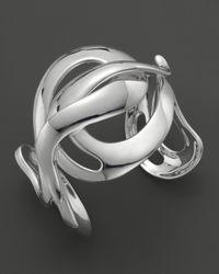 Ippolita   Metallic Ippolita Sterling Silver Scultura Large Wavy Cuff   Lyst
