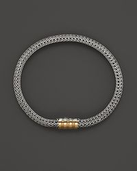 John Hardy - Metallic Bedeg 18K Gold And Silver Extra-Small Station Bracelet - Lyst