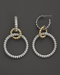 John Hardy - Metallic Bedeg 18k Gold and Sterling Silver Circle Hoop Drop Earrings - Lyst