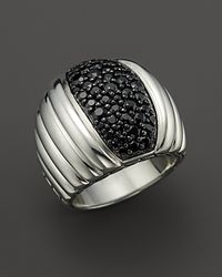 John Hardy - Metallic Bedeg Sterling Silver And Black Sapphire Lava Dome Ring - Lyst
