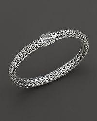 John Hardy - Metallic Small Classic Chain Bracelet With Diamond Pavé Clasp - Lyst