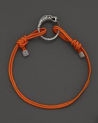 John Hardy - Metallic Sterling Silver Dragon Station Cord Bracelet  - Lyst