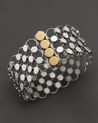 John Hardy - Metallic Dot 18K Gold And Sterling Silver Chain Mail Bracelet - Lyst