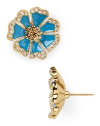 kate spade new york | Blue Garden Grove Large Stud Earrings | Lyst