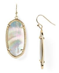 Kendra Scott | White Elle Earrings | Lyst