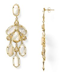 Kendra Scott | White Kyra Earrings | Lyst