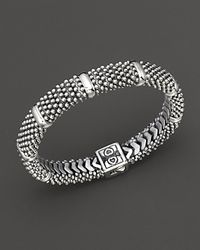 Lagos - Metallic Diamond Lux Sterling Silver Caviar™ Beaded Rope Bracelet - Lyst