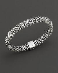 Lagos - Metallic Caviar™ Oval Rope Bracelet - Lyst
