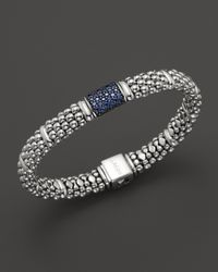 Lagos - Metallic Muse Sterling Silver Bracelet with Blue Sapphire - Lyst