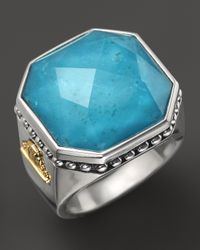 Lagos - Blue Sterling Silver Turquoise Color Rocks Ring - Lyst