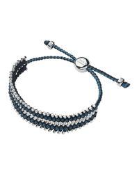 Links of London - Blue Herringbone Friendship Bracelet - Lyst