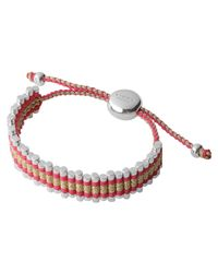 Links of London | Zigzag Red Gold Friendship Bracelet | Lyst