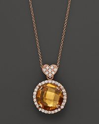 Lisa Nik - Metallic Citrine and Diamond Rocks Pendant Necklace in 18k Rose Gold 18 - Lyst